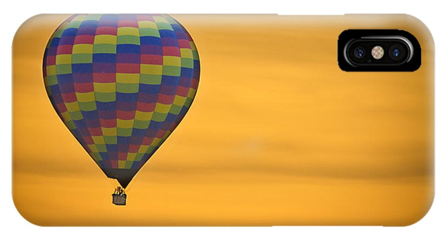 'hot Air Balloon' IPhone X Case featuring the photograph Hot Air Balloon Golden Flight by James BO Insogna