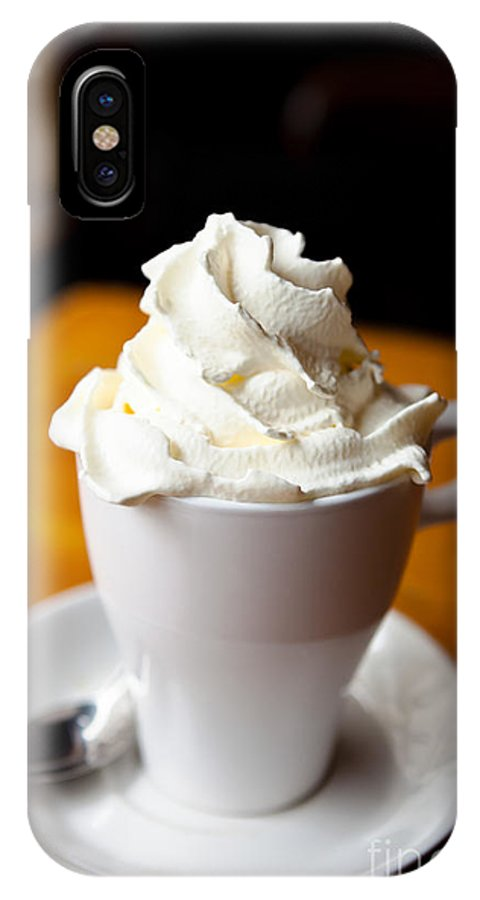 Belgium IPhone X Case featuring the photograph Hot Chocolate With Creme Chantilly by Leslie Banks