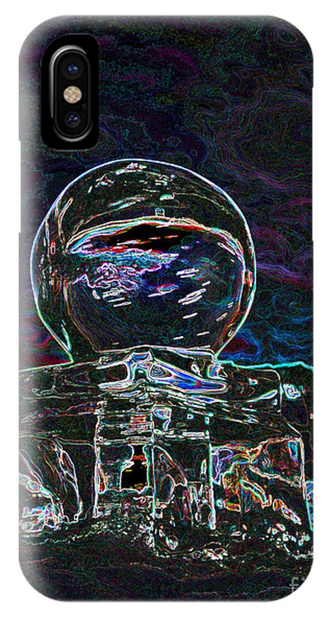 Abstract IPhone X Case featuring the digital art Hot Ice by Rosemary Calvert