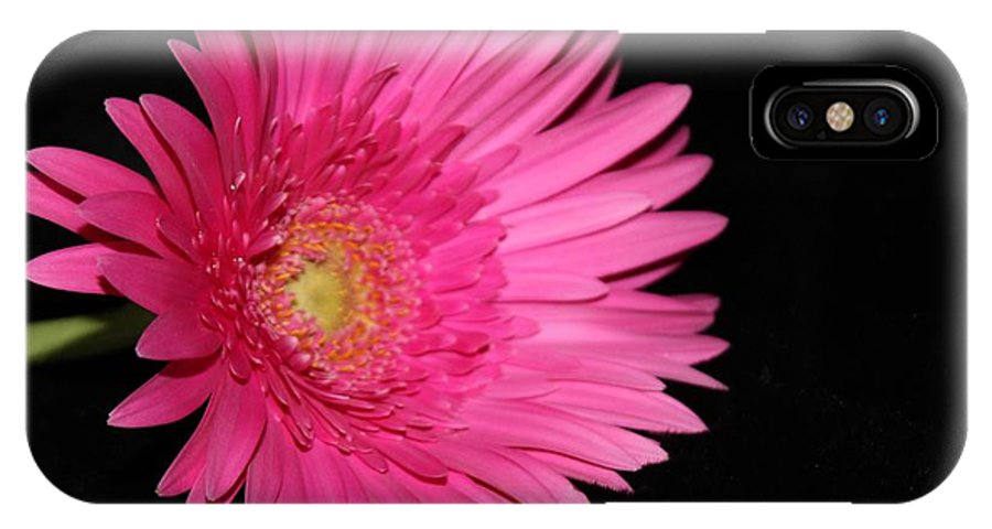 Flower IPhone X Case featuring the photograph Hot Pink by Margaret Hamilton