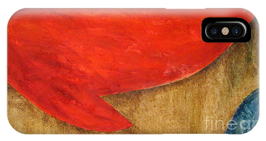 Abstract IPhone X Case featuring the painting Hot Spot by Silvana Abel