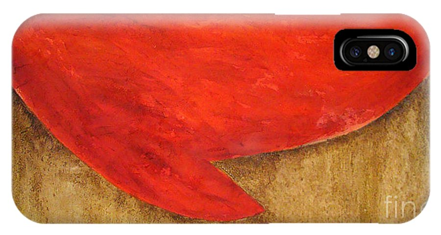 Modern Art IPhone Case featuring the painting Hot Spot by Silvana Abel