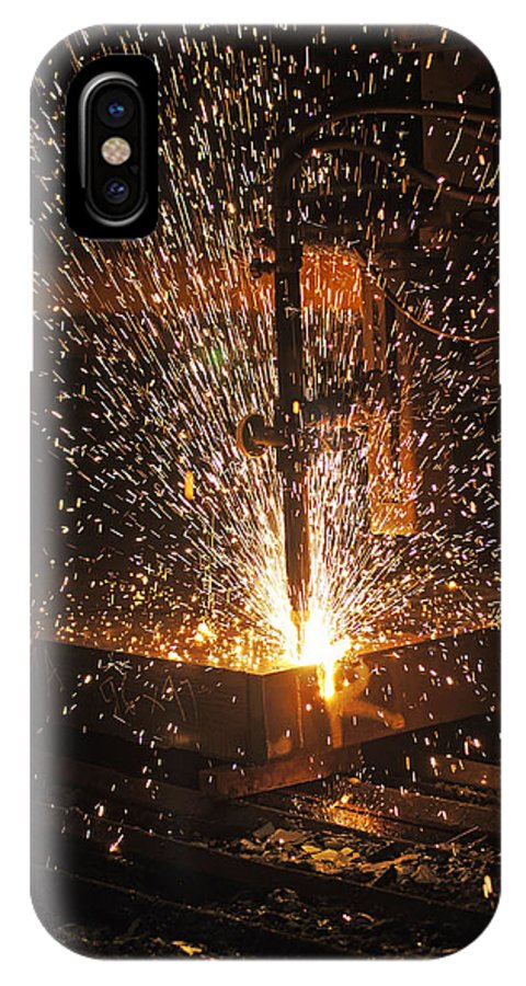 Industry IPhone X Case featuring the photograph Hot Steel by Jason Blain
