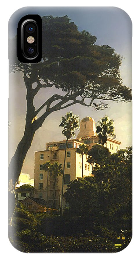 Landscape IPhone X Case featuring the photograph Hotel California- La Jolla by Steve Karol