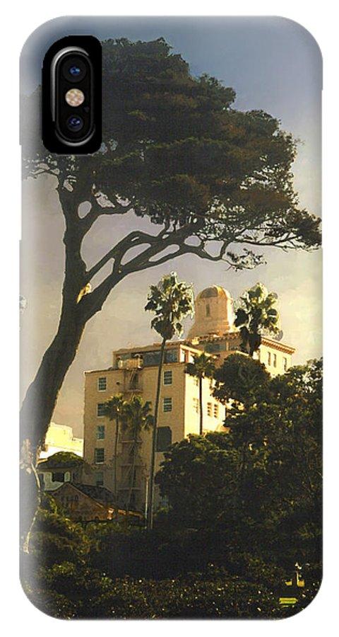 Landscape IPhone X / XS Case featuring the photograph Hotel California- La Jolla by Steve Karol