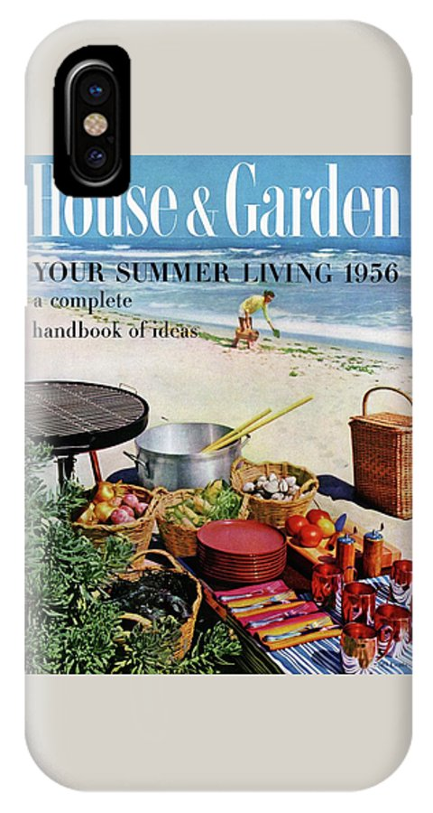 Entertainment IPhone X Case featuring the photograph House And Garden Ideas For Summer Issue Cover by Tom Leonard