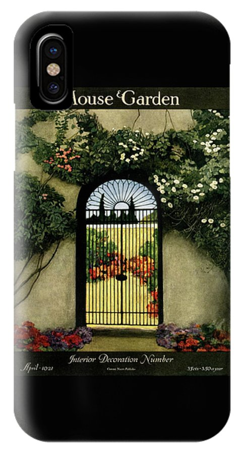 House And Garden IPhone X Case featuring the photograph House And Garden Interior Decoration Number by Ethel Franklin Betts Baines