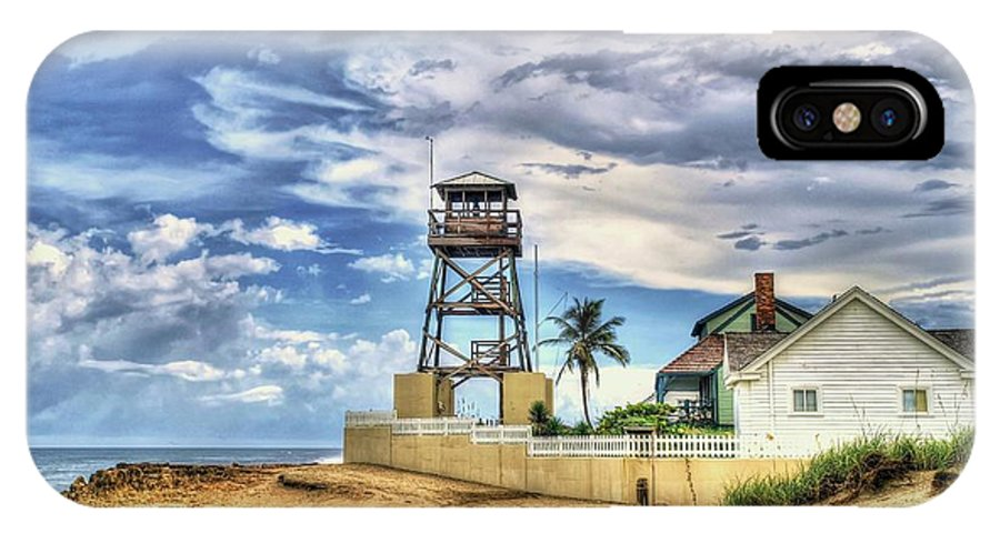 Gilbert's House Of Refuge IPhone X Case featuring the photograph House Of Refuge by Joan C Jones