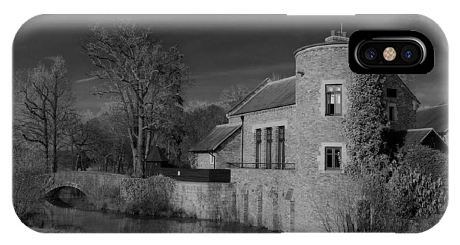 House On The River IPhone X Case featuring the photograph House On The River by Maj Seda