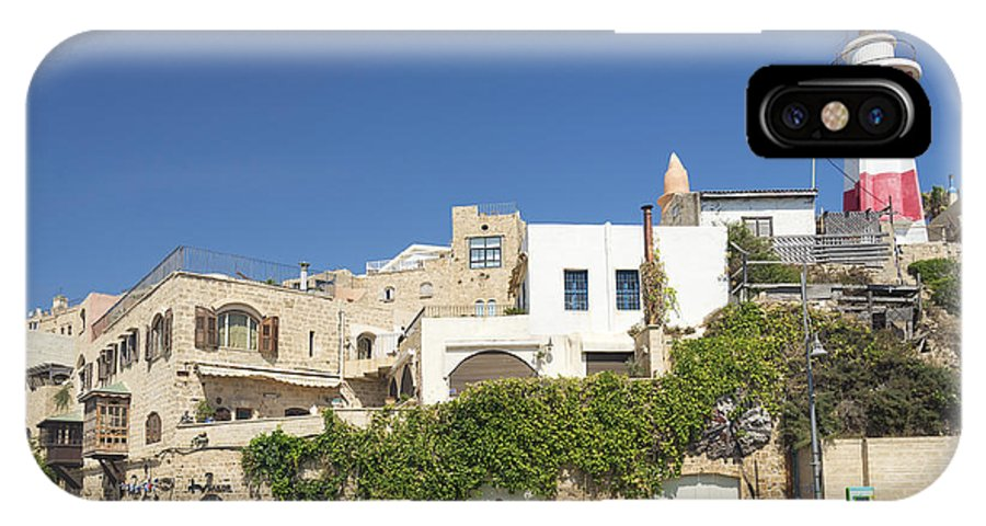 Architecture IPhone X Case featuring the photograph Houses In Jaffa Tel Aviv Israel by Jacek Malipan