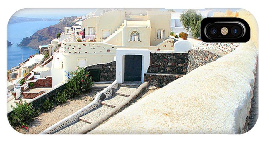 Oia Santorini Greece IPhone X Case featuring the photograph Houses Oia Santorini by Carole-Anne Fooks