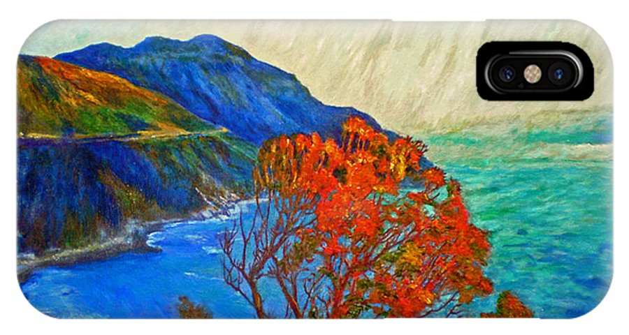 Seascape IPhone X Case featuring the painting Hout Bay by Michael Durst