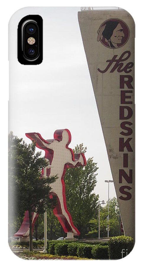 Redskins IPhone X Case featuring the photograph Httr by Heather Taylor