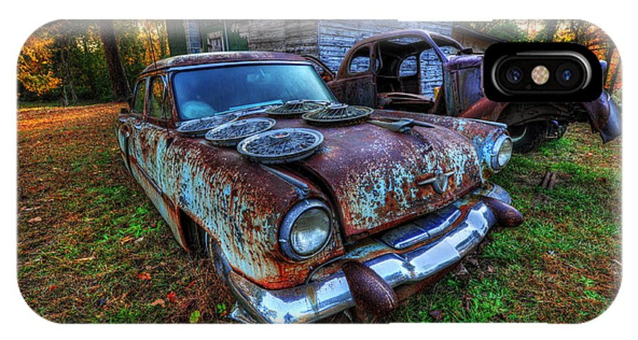 Cars IPhone X Case featuring the photograph Hubcaps by Randy Brown