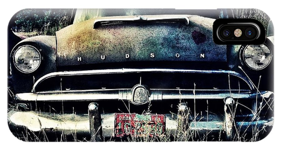 Hudson IPhone X Case featuring the photograph Hudson Blues by Willetta Crowe