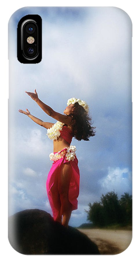 Photography IPhone X Case featuring the photograph Hula Dancer Hawaii by Vintage Images