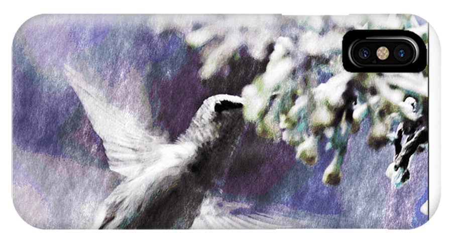 Hummingbird IPhone X Case featuring the photograph Hummer Feeding by Susan Leggett