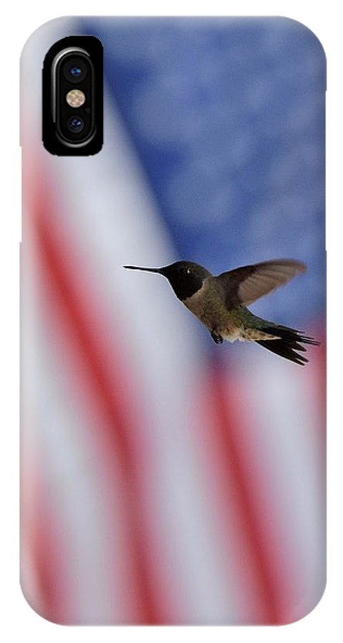 Bird IPhone X Case featuring the photograph Hummingbird Art 229 by Lawrence Hess