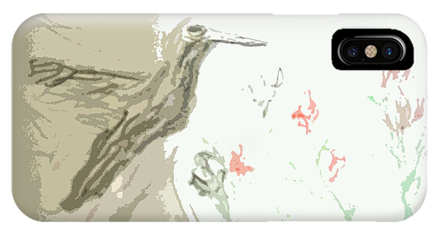 Scenery IPhone X Case featuring the painting Hummingbird by Ayyappa Das