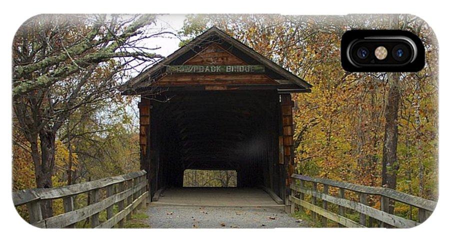 Countryside IPhone X Case featuring the photograph Humpback Bridge Opening by Jennifer Lamanca Kaufman
