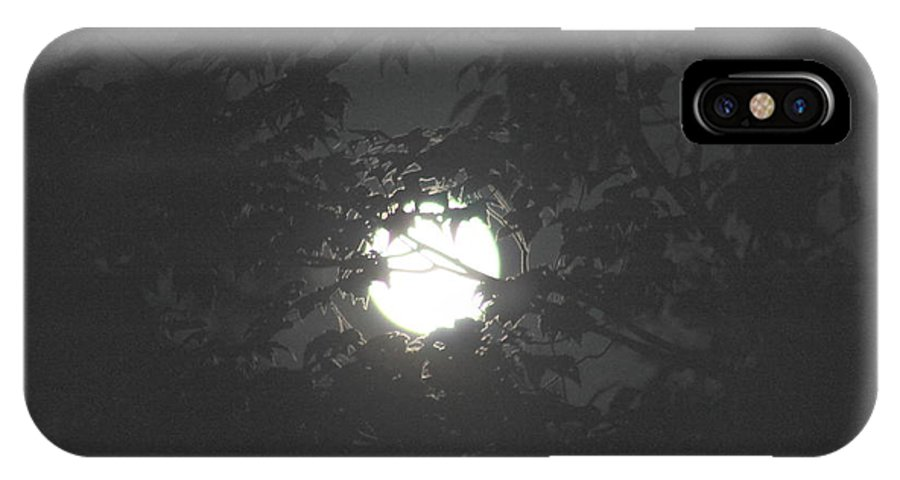 Full Moon IPhone X / XS Case featuring the photograph Hunter's Moon by Amy Bachert