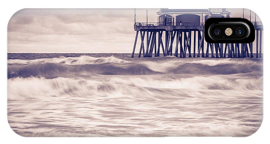 Huntington Beach IPhone X Case featuring the photograph Huntington Beach Retro by Tuan Le
