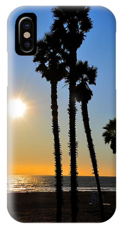 Huntington Beach IPhone X Case featuring the photograph Huntington Beach Sunset by Eryn Carter