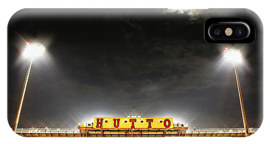 Hutto High School IPhone X Case featuring the photograph Hutto Hippo Stadium by Trish Mistric
