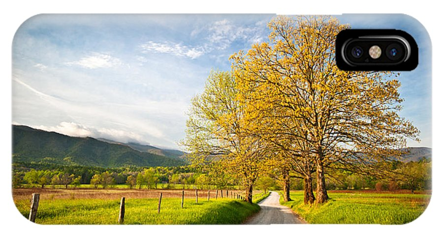 Spring IPhone X Case featuring the photograph Hyatt Lane Cade's Cove Great Smoky Mountains National Park by Dave Allen
