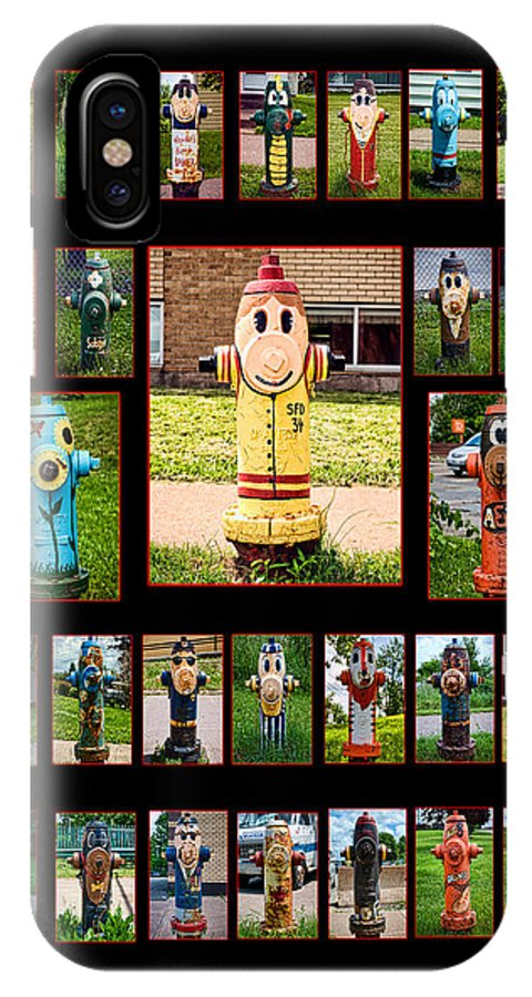 Firefighter IPhone X Case featuring the photograph Hydrants by Mitchell Brown
