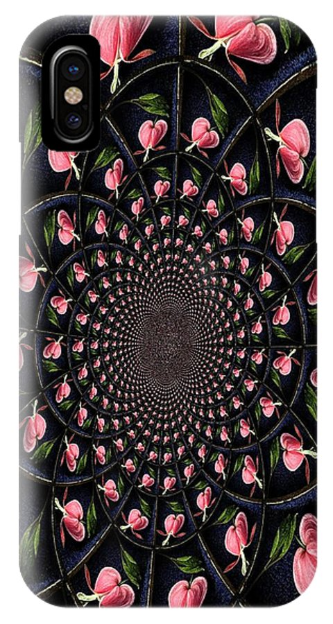 Earthy IPhone X Case featuring the photograph Hypnotic Hearts by Chris Berry