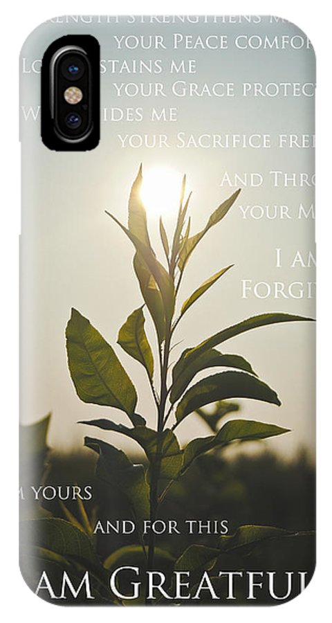 Sf Photography IPhone X Case featuring the photograph I Am Greatful by Swift Family