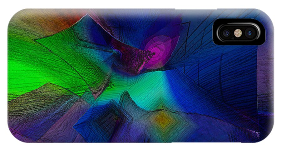 Abstract IPhone X Case featuring the digital art I Don't Trust Them by Elizabeth Austin-Craig