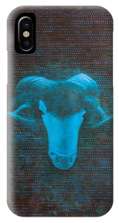 Art IPhone X Case featuring the painting I Forgot Your Name by Sandra Cohen