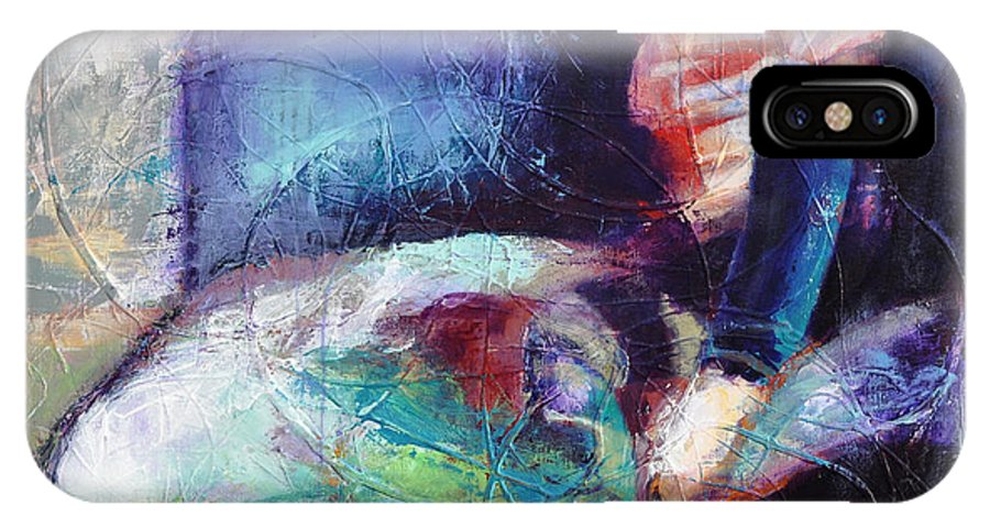 I Hear The Music IPhone X Case featuring the mixed media I Hear The Music by Johane Amirault