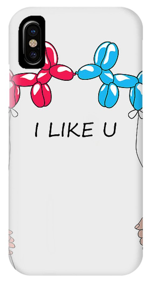 Love IPhone X Case featuring the digital art I Like You 2 by Mark Ashkenazi