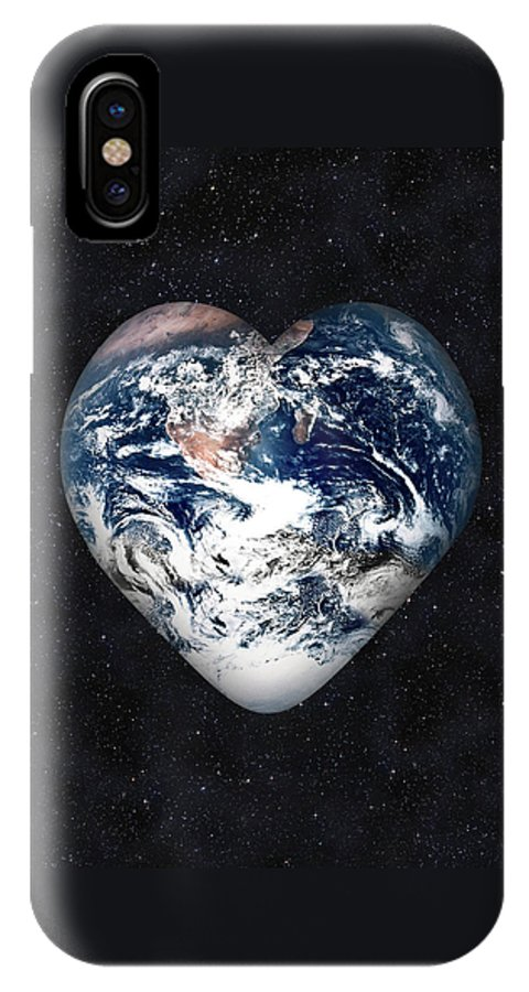 Earth IPhone X Case featuring the digital art I Love Earth by Gravityx9 Designs