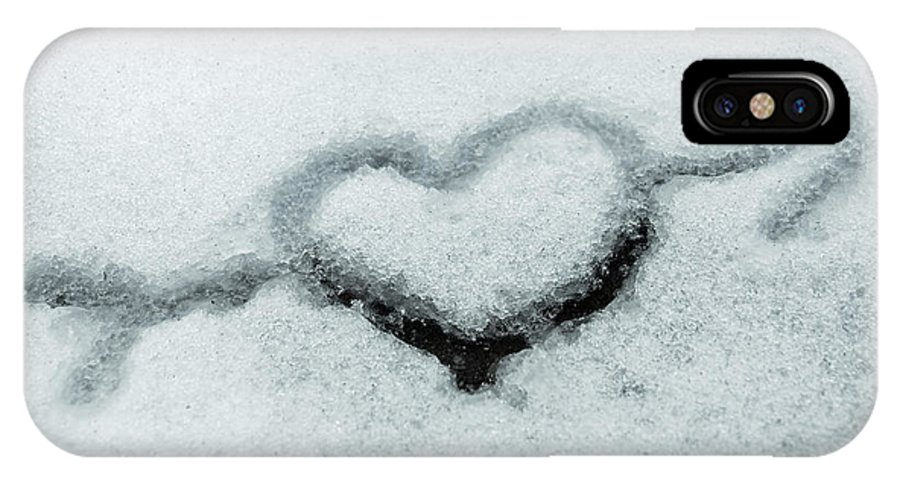 Snow IPhone X Case featuring the photograph I Love The Winter Snow by Photographic Arts And Design Studio