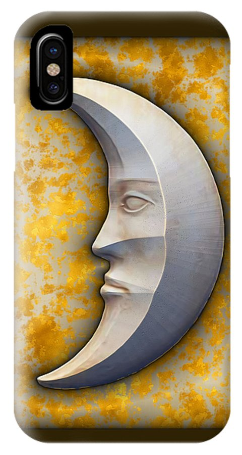 Art166.com IPhone X Case featuring the digital art I See The Moon 1 by Wendy J St Christopher