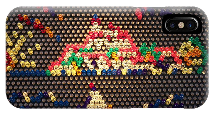Ibiza IPhone X Case featuring the photograph Ibiza Lite Brite by Suzy Kangas