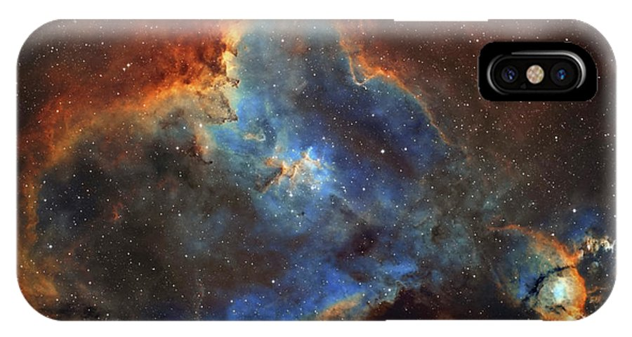 Horizontal IPhone X Case featuring the photograph Ic 1805, The Heart Nebula In Cassiopeia by Lorand Fenyes