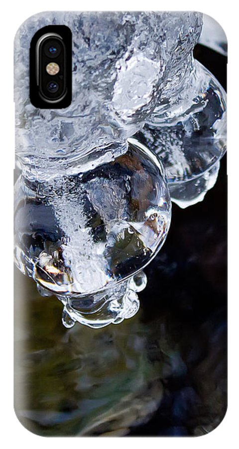 Ice IPhone X Case featuring the photograph Ice Balls by Katherine Hawkins