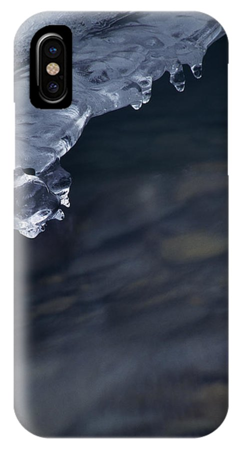Nature IPhone X Case featuring the photograph Ice Drop by Walter Murdock