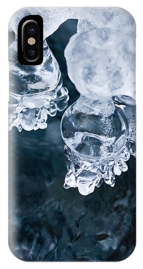 Ice IPhone X Case featuring the photograph Ice Nodules by Katherine Hawkins