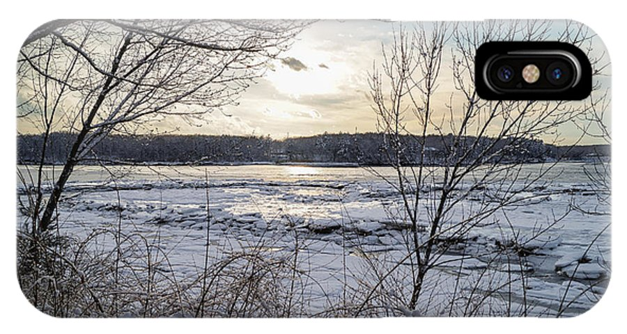 Ice IPhone X Case featuring the photograph Ice On The Saco River by Andrew Dimmitt