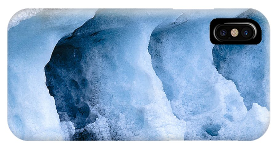 Iceland IPhone X Case featuring the photograph Ice Pattern In Blue by Andy-Kim Moeller