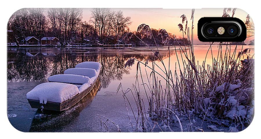 Landscape IPhone X Case featuring the photograph Ice Pier II by Davorin Mance