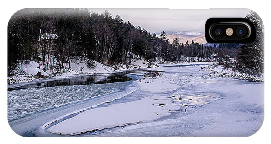 River IPhone X Case featuring the photograph Ice River by Christine Nunes