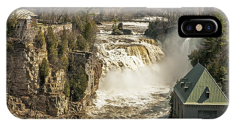 Ausable Chasm Ny IPhone X Case featuring the photograph Ice Run Off by Eric Swan