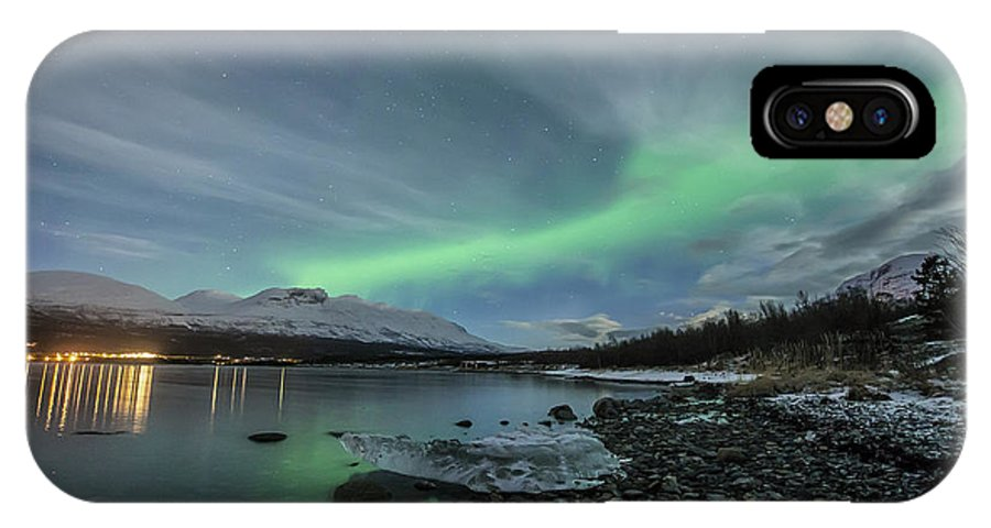 Northern Lights IPhone X Case featuring the photograph Ice Seal by Tom Kiil
